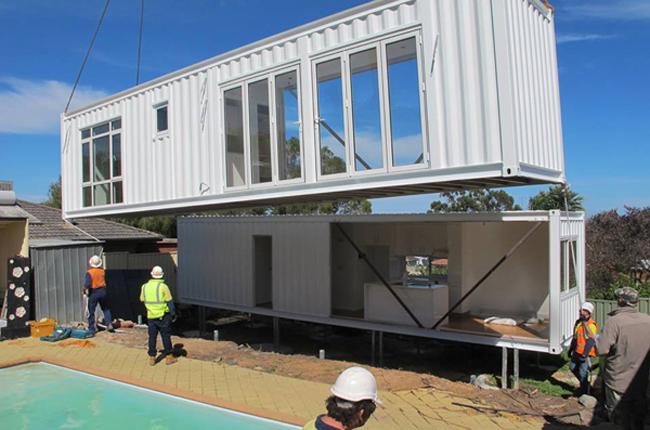 Maison Container Vue Extérieure